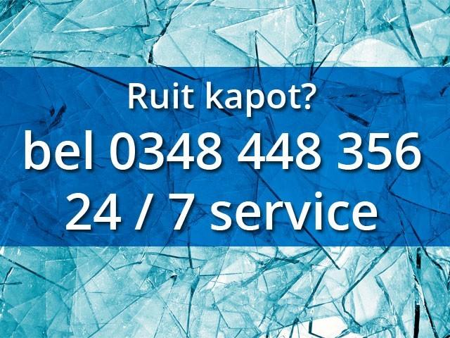 Ruit kapot?bel 0348 448 356 24 / 7 service